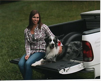 Duke with owner Nicole Blackwood