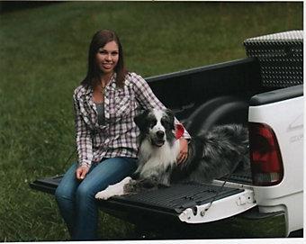 Duke with owner Nicole Blackwood