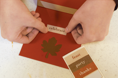 using scrapbooking materials to make a custom card
