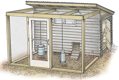 Image result for chicken coop illustration
