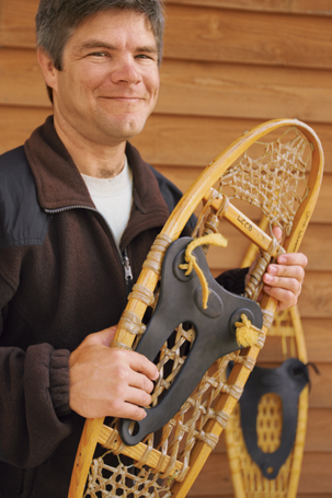 Chuck Ungs with a snowshoe