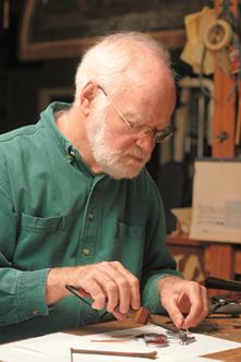 Parkie Gleason working on his Red Cherries