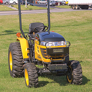 a slightly larger tractor model with a raised carriage