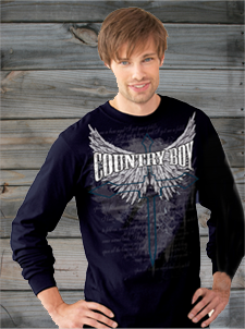 Country Boy Long Sleeve Tees