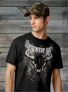 Country Boy Short Sleeve Tees
