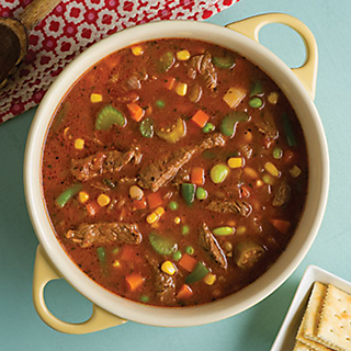 Cowboy Steak & Veggie Soup