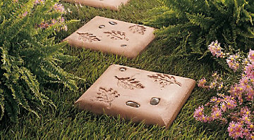 steppingstones in the garden arent just decorativetheyre functional too if you have a large landscape bed creating a pathway through it will help avoid - Decorative Stepping Stones