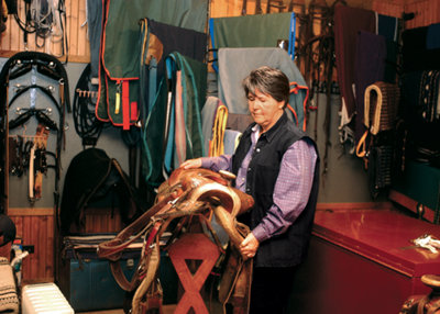 Cherry Hill in her tack room - Tractor Supply Co.