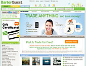 picture of BarterQuest web page