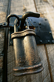 hand-smithed lock