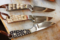 three finished knives