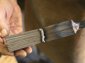 layers of Damascus steel ready to use