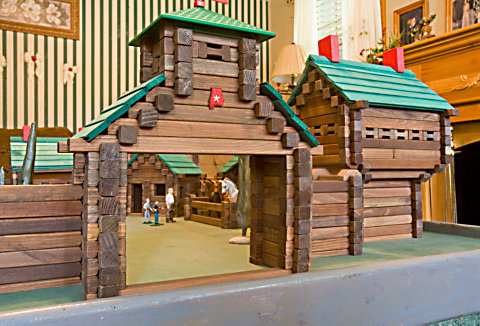 front view of the toy fort entrance