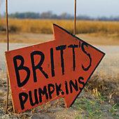 sign for Britt's Pumpkins