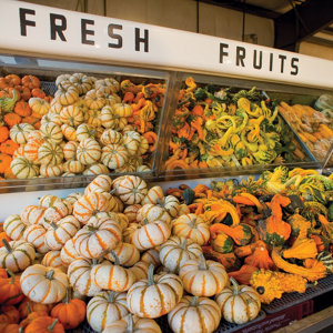 fruits on display in their farm store