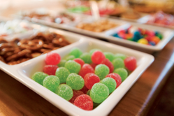 different kinds of candies used for decorating