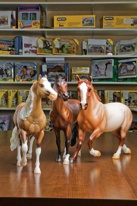 three more model horses