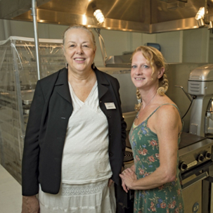 Martha Pile (left) and Karla Kean in their incubator kitchen