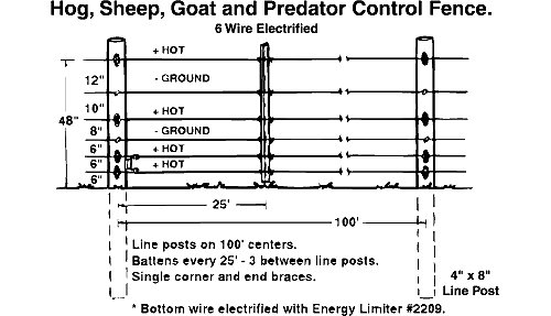 Electric Fence Designs Hog Sheep Goat And Predator Fence