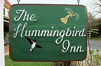 Hummingbird Inn sign