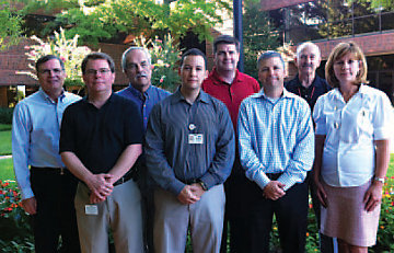 Team members at TSC's Store Support Center responsible for energy savings initiative in the IT department