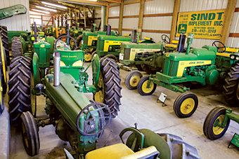 group of John Deere 530 tractors