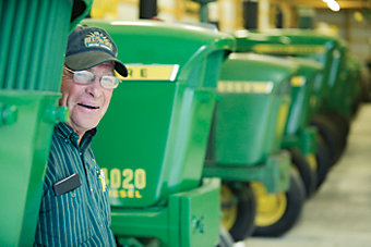 Darryl with his tractor collection