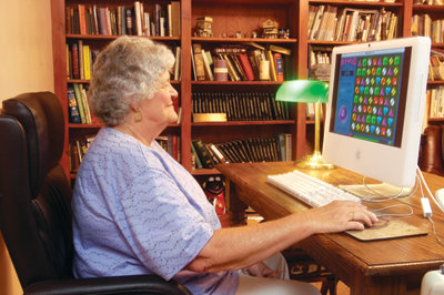 woman playing computer game