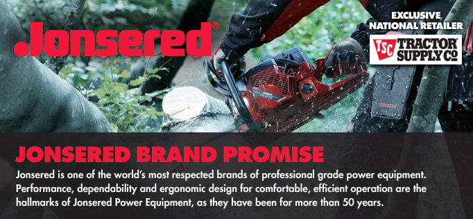 Jonsered - Professional Performance. Professional Quality. For More Than 50 Years.