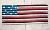 corrugated metal flag