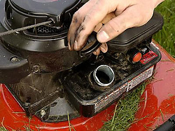 lawn mower fuel line repair
