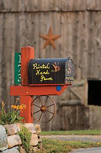 Painted Hand Farm mailbox