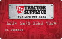 Personal Tractor Supply Co. Credit Card