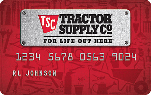 Financing and credit cards tractor supply co reheart
