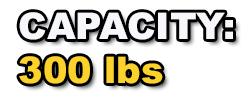 300lbs capacity