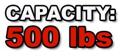 500lbs capacity