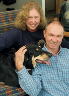 Becki and Rick Williams with their dog Jazzi