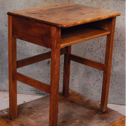 the beautifully restored oak desk