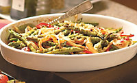 Roasted Green Beans With Peppers And Onions