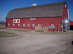 a dairy barn in northern Michigan