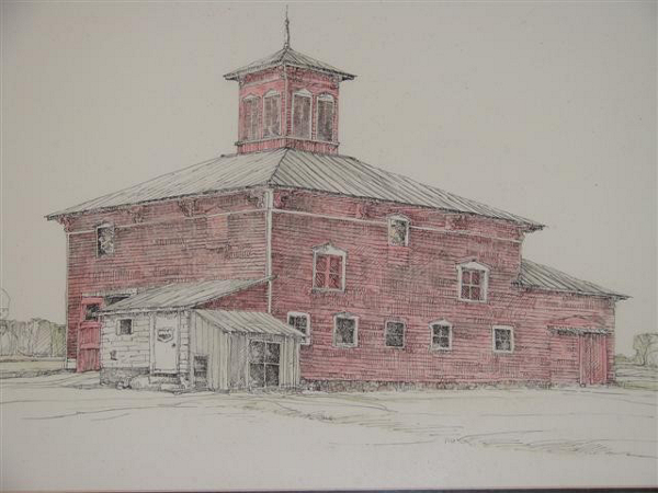 a sketch of a dairy barn in Ovid, Michigan - Tractor Supply Co.