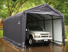 portable shelters htm tarp diy a and kits garage instant shelter plus in garages box