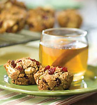 Sticks 'N' Stone Cider with Whole Wheat Cranberry and Apple Muffins