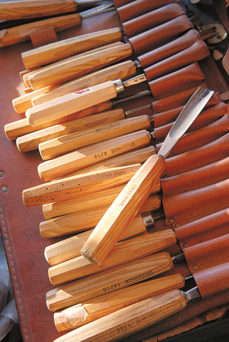 a professional set of carving knives