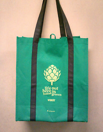 Reusable shopping bag available at TSC
