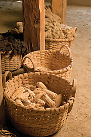 produce in baskets