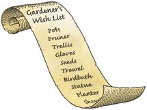gardener's wish list