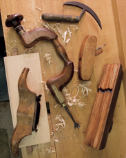 tools laying on a worktable