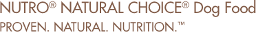Nutro Natural Choice Dog Food. Proven. Natural. Nutrition.