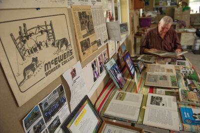 Jim Bob McEwen at his desk